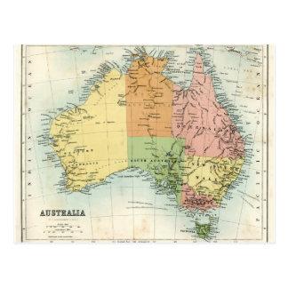 Antique map of Australia Postcard