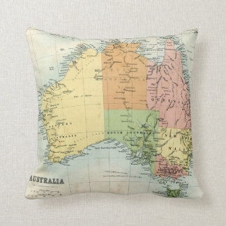 Antique map of Australia Throw Pillow