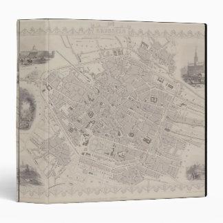 Antique Map of Belgium Binders