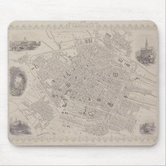 Antique Map of Belgium Mouse Pad