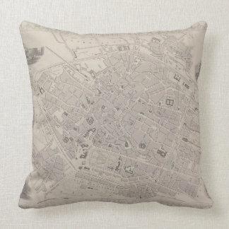 Antique Map of Belgium Pillows