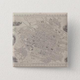 Antique Map of Belgium Pinback Button