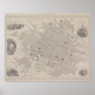 Antique Map of Belgium Poster