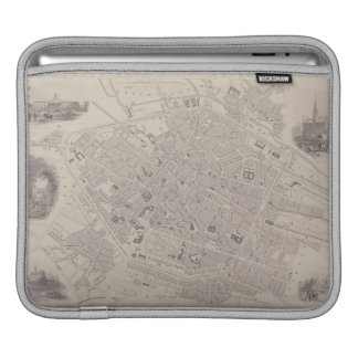 Antique Map of Belgium Sleeve For iPads