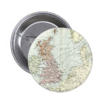 Antique map of British Isles and Surrounding Seas Button