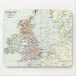 Antique map of British Isles and Surrounding Seas Mousemats