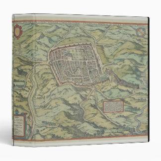 Antique Map of Calatia, Italy 3 Ring Binder