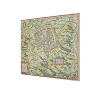 Antique Map of Calatia, Italy Canvas Print