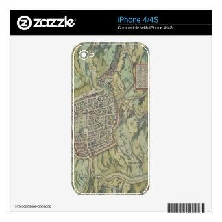 Antique Map of Calatia, Italy iPhone 4 Skins