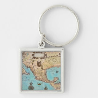 Antique Map of California and Central America Key Chain
