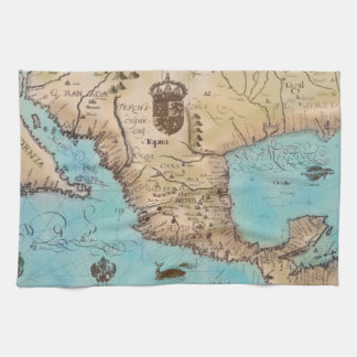 Antique Map of California and Central America Towel