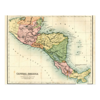 Antique map of Central America Postcard