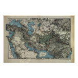 Antique Map of Central Asia 1885 Print