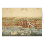 Antique Map of Chicago, LaSalle Street and River