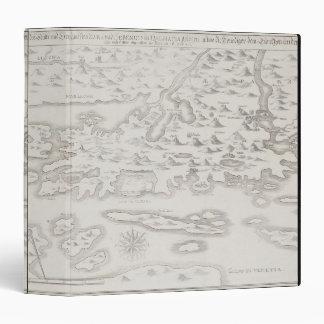 Antique Map of Croatia 3 Ring Binders