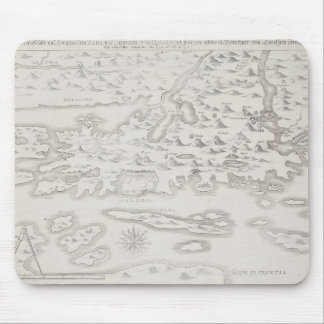 Antique Map of Croatia Mouse Pad