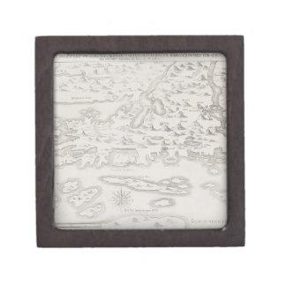 Antique Map of Croatia Premium Gift Box