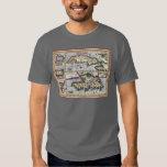 Antique Map of Cuba, Haiti, Dominican Republic T-shirts