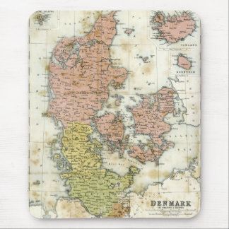 Antique map of Denmark Mouse Pad