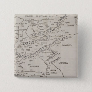 Antique Map of Eastern Europe Button