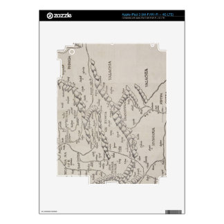 Antique Map of Eastern Europe Decals For iPad 3