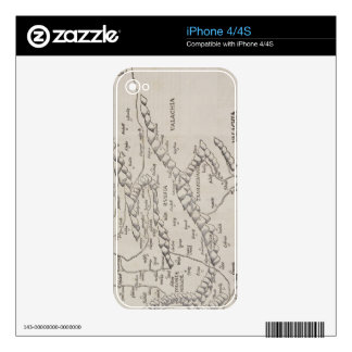 Antique Map of Eastern Europe Decals For iPhone 4S