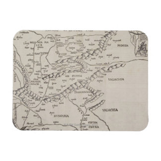 Antique Map of Eastern Europe Rectangular Photo Magnet