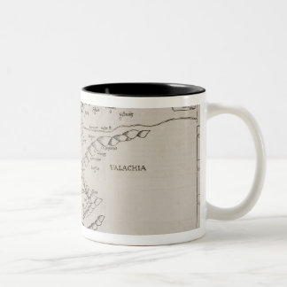 Antique Map of Eastern Europe Two-Tone Coffee Mug