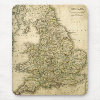 Antique Map of England and Wales Mouse Pad