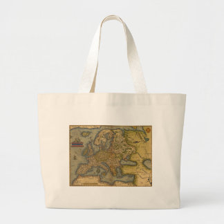 Antique Map of Europe Canvas Bags