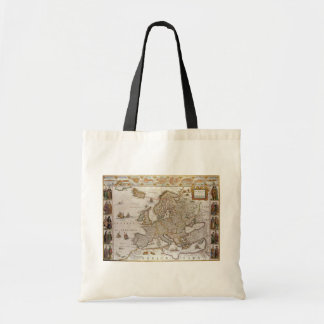 Antique Map of Europe by Willem Jansz Blaeu, c1617 Tote Bag