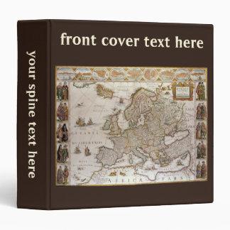 Antique Map of Europe, c1617 by Willem Jansz Blaeu Vinyl Binders