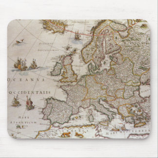 Antique Map of Europe, c1617 by Willem Jansz Blaeu Mouse Pad