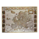 Antique Map of Europe, c1617 by Willem Jansz Blaeu Poster