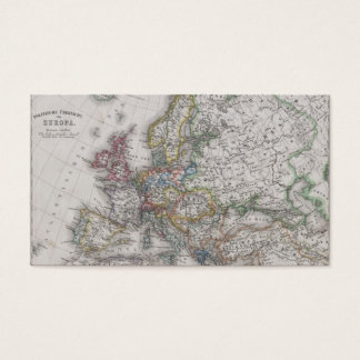 Antique Map of Europe circa 1862 Business Card