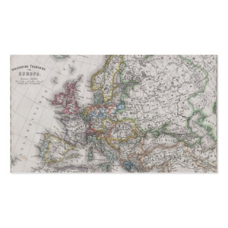 Antique Map of Europe circa 1862 Business Cards
