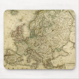 Antique Map of Europe Mouse Pad