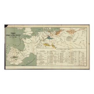 Antique Map of Europe, Napoleonic Empire Posters