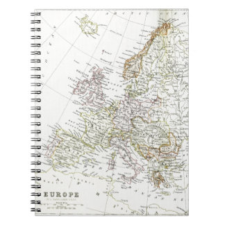 Antique map of Europe Notebook