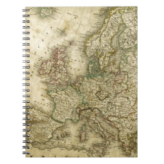 Antique Map of Europe Notebooks