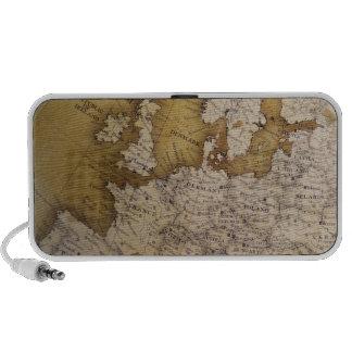 Antique map of europe. Old world. Speaker System
