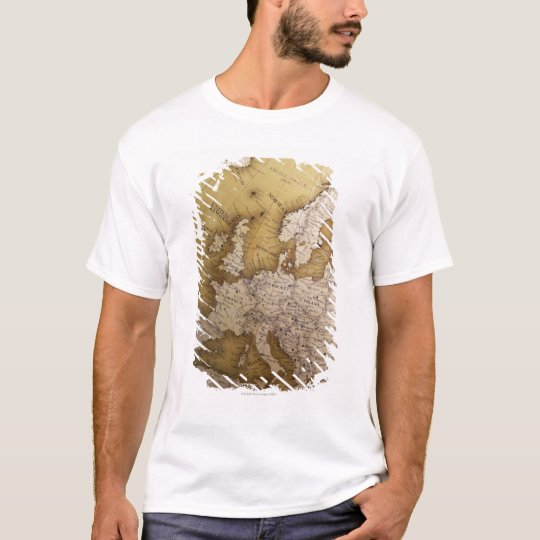 Antique map of europe. Old world. T-Shirt