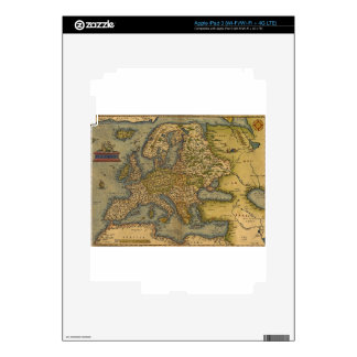 Antique Map of Europe Skin For iPad 3