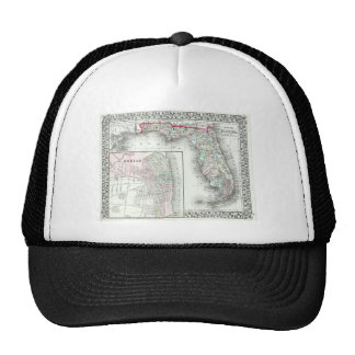 Antique Map of Florida & Mobile, Alabama Trucker Hat