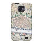 Antique Map of Fortress City of Antwerp, Belgium Samsung Galaxy SII Cover
