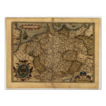 Antique Map of Germany Ortelius Atlas Poster