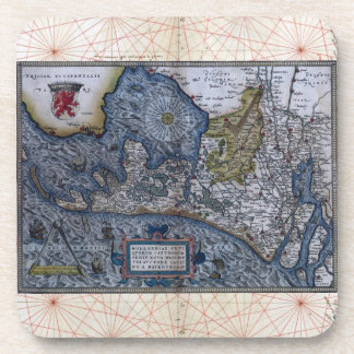 Antique Map of  Hollandia Coaster