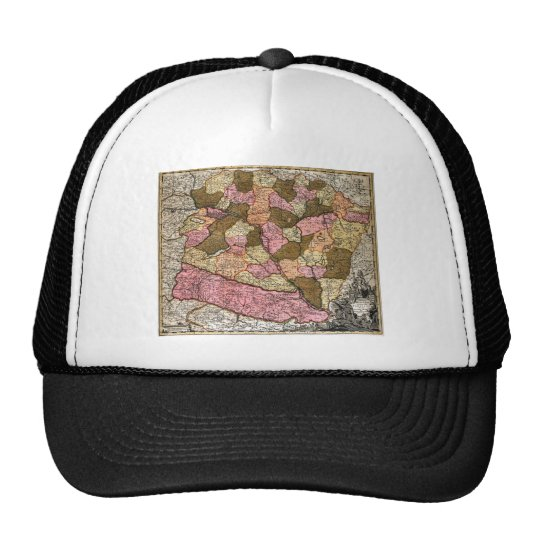Antique Map of Hungary Trucker Hat