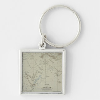 Antique Map of Iran Keychains