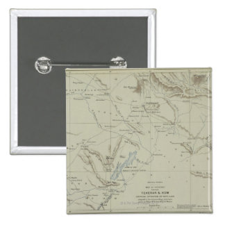 Antique Map of Iran Pinback Button